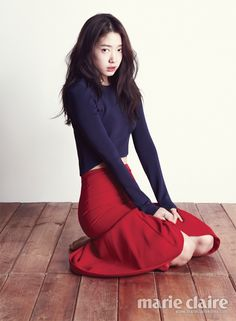 Park Shin Hye Marie Claire Korea February 2013 Look 3 I don't like the shirt but I do adore the skirt