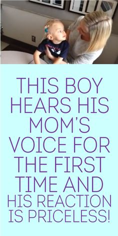 This Boy Hears His Mom's Voice For The First Time... And His Reaction Is Priceless!!