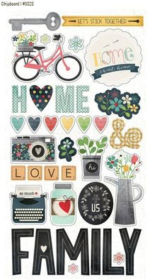 Sn@p Homespun chipboard stickers