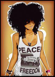 ♥️Black Art♥️ ~ Afro by Matystaw Art Black Love, Black Girl Art, My Black Is Beautiful, Black Girl Magic, Art Girl, Natural Hair Art, Natural Hair Styles, Art Afro Au Naturel, Black Art Pictures