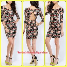 Be BOLD with this beautifully patterned open back body con dress! Available in Sizes Small-Large only $28!!! Email me size to order @ thefashionvaults@yahoo.com #simply #sexy #elegant #ethnic #pattern #divaapproved #love #style #beautiful #cutout #back #bodycon #fitted #curves #slimwaist #shop #thefashionvaults #boutique #elpaso #texas