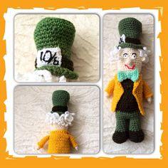 Crochet Mad Hatter from Alice in Wonderland