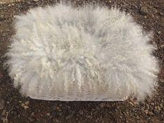 Felt Photo Prop Grey Fur Rug Wool Baby Blanket Real Basket Stuffer Hand Felted By Feltfur