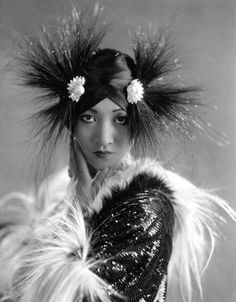 Anna May Wong accented with monkey fur, 1930s