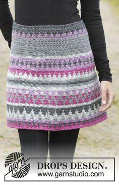 Color Of Winter Skirt By DROPS Design - Free Crochet Pattern - (garnstudio)