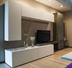 100 veces he visto estas grandes muebles minimalistas. Living Room Wall Units, Living Room Tv Unit Designs, Ikea Living Room, Tv Unit Decor, Tv Wall Decor, Tv Wanddekor, Modern Tv Wall Units, Tv Unit Furniture, Muebles Living
