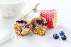 muffin al limone e mirtilli alla menta vegan