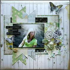 Stunning Layout from Two Scrapbook Friends #scrapbooking101