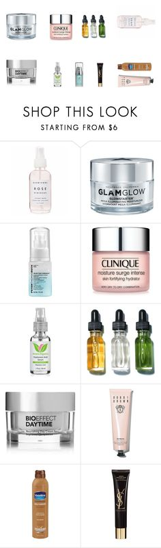 """*DRY* skin"" by ninamaybaby ❤ liked on Polyvore featuring beauty, Holly's House, GlamGlow, Peter Thomas, Clinique, Bobbi Brown Cosmetics, Bioeffect, Vaseline, Yves Saint Laurent and Forever 21"