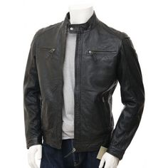 Customized Handmade Black Color Bikers Men's Leather Jacket With 4 Cross Zippered Pockets, Front Zippered Closure, Snap Button Cuffs & Lower Design Collar Made To Order