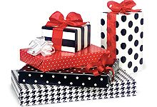 wrap gifts, gift wrap, wrap idea, nashvill wrap, wrap paper, christma wrap, black christma, dot, christmas wrapping