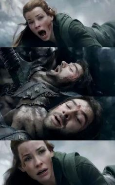 NOOOOOOOOOO.... Kili...I'm crying right now... I don't want you to go kili... I don't really ship these two but this scene  was just not cool....