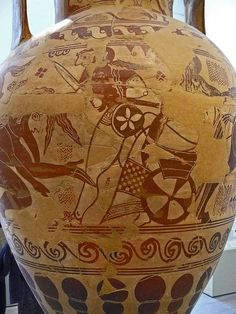 Terracotta Neck amphora Greek Attic Proto-Attic second quarter of the 7th century attributed to the New York Nettos Painter (1) by mharrsch, via Flickr