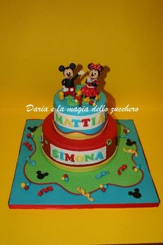 #Mickey mouse and Minnie cake #torta topolino e minnie#