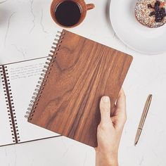 I love the walnut on this notebook from @pacificandwest. Go check out their Kickstarter project. #Kickstarter #woodworking #design