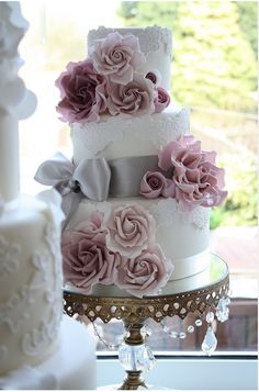 image of Fondant Lace Wedding Cake ♥ Wedding Cake Design Mauve Wedding, Mod Wedding, Wedding Colors, Dream Wedding, Wedding Day, Trendy Wedding, Floral Wedding, Wedding Blog, Wedding Flowers