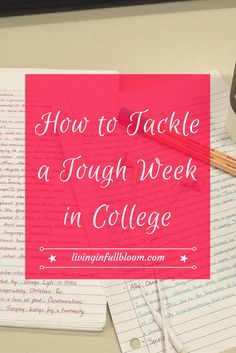 Tips for how to deal with a long stressful week in college and how to stay productive and get stuff done!