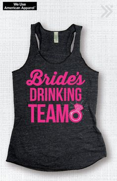 Bridal Party Bachelorette Wedding Bride's Drinking by everfitte, $26.00