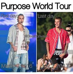 Purpose World Tour March 9 2016 - July 2 2017 The Purpose era will never be forgotten thanks for the memories