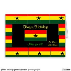 ghana holiday greeting cards