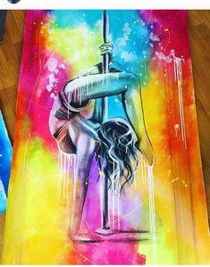 poledance art canvas