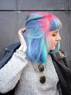 pink lavender and turquoise hair - Google Search