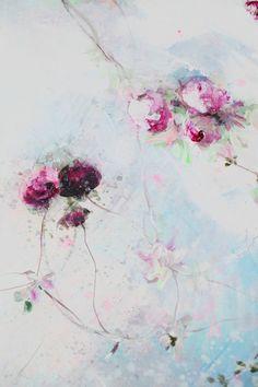 Les dernières créations de Laurence Amélie sont deux tableaux de deux mètres sur deux qui vont être livrés au Mexique chez un couple qui ont...
