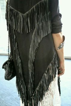 ㅡLace, fringe and leather...