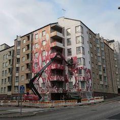 In the making, TELLAS @ UPEA16, HELSINKI  #TELLAS #UPEA16 #Helsinki #Nuorisosäätiö #Hämeenrakennuskone #Suvilahti #Suvilahdenkatu #UPEAsyyskuu #katutaide #taidettakaupunkiin #katutaidesuomessa #muraali #katutaidefestivaali #streetart #streetarthelsinki #streetartfestival #mural #tikkurila #värienvoimaa #dripitfi @tellas222 @dripit_fi @tikkurila_suomi @Nuorisosaatio katutaide.com
