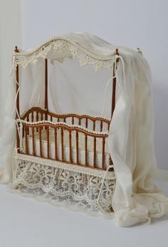1:12 scale Custom Crib   by Ken Haseltine Regent Miniatures