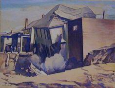 Charles Sheeler - Catastrophe No.1 (1944) Painters, Printmaking, American, Image, Art, Craft Art, Kunst, Printing, Graphics