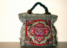 OVERSIZED tote Ethnic / Hip / Tribal / Hmong / by dazzlinglanna