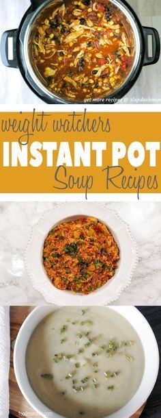 You are going to need to make all of these Instant Pot Weight Watchers Soup Recipes! They're perfect to make all year long, and all have fabulous FreeStyle Points! #weightwatchers #instantpot #instantpotweightwatchers #freestylepoints #freestyle #instantpotrecipes #soups #instantpotsoups via @foodnservice