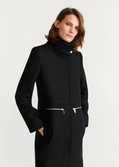 Discover the latest trends in Mango fashion, footwear and accessories. Shop the best outfits for this season at our online store. Mango France, Clothes 2019, Mango Fashion, Wool Fabric, Straight Cut, Wool Coat, Coats For Women, Mantel, Lana