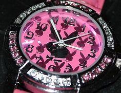 NEW Pink Silver PLAYBOY girls teens fashion watch jewellery