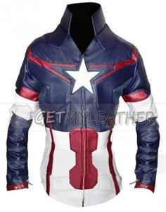Age of Ultron Captain America Women Jacket getmyleather