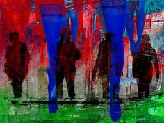 'People and legs' von Gabi Hampe bei artflakes.com als Poster oder Kunstdruck $20.79