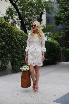 Atlantic-Pacific: white lace dress