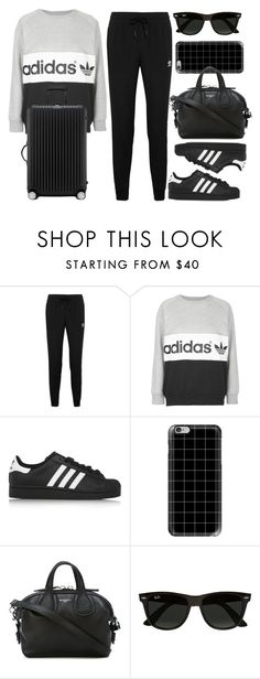 """Style #11394"" by vany-alvarado ❤ liked on Polyvore featuring adidas Originals, adidas, Casetify, Givenchy, Ray-Ban and Rimowa"