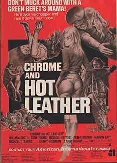Chrome and Hot Leather Fiction Movies, Cult Movies, Pulp Fiction, Horror Movie Characters, Horror Movies, Old Movie Posters, Vintage Posters, Biker Movies, Vintage Movies