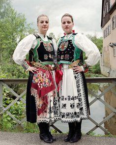Costume from Saxon Transylvania Folk Costume, Costumes, Traditional Outfits, Romania, Kimono Top, Dress Up, Culture, Moldova, German