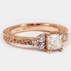 Gold diamonds detailing milgrain. Lovely.