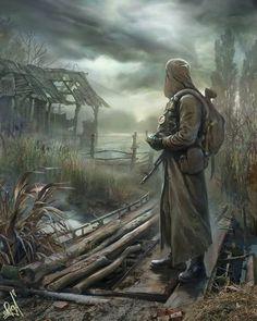 Midoan rebel soldier surveys the land