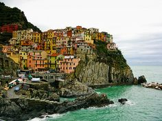 Cinque Terre, Italy. A beautiful city along the coast in Italy! The food is to die for!