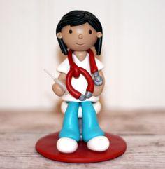 Cool Idea for Graduation  Custom Handmade - Nurse or Doctor Cake Topper. $38.00, via Etsy.