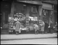 The Old Bookstore, 1930. Boston Public Library from @Libroantiguo