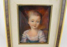 Antique French Faure Limoges Enamel Portrait 18th C Young Girl Framed | eBay