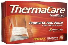 #Thermacare Lower Back & Hip Heat Wraps for Pain Relief and Muscle Relaxation. Provides momentary relief of minor muscular back aches and pains.