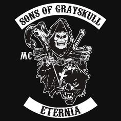 "SONS OF GRAYSKULL!! (BLACK)"" T-Shirts & Hoodies by PureOfArt ..."