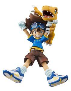 Digimon Adventure G.E.M. Series PVC Statue Taichi Yagami & Agumon 11 cm ( Megahouse )